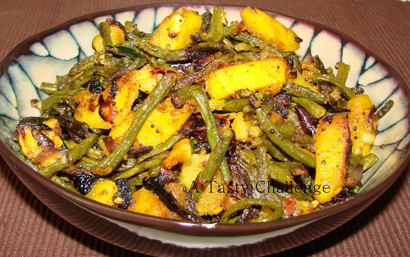String Beans and Potato Fry