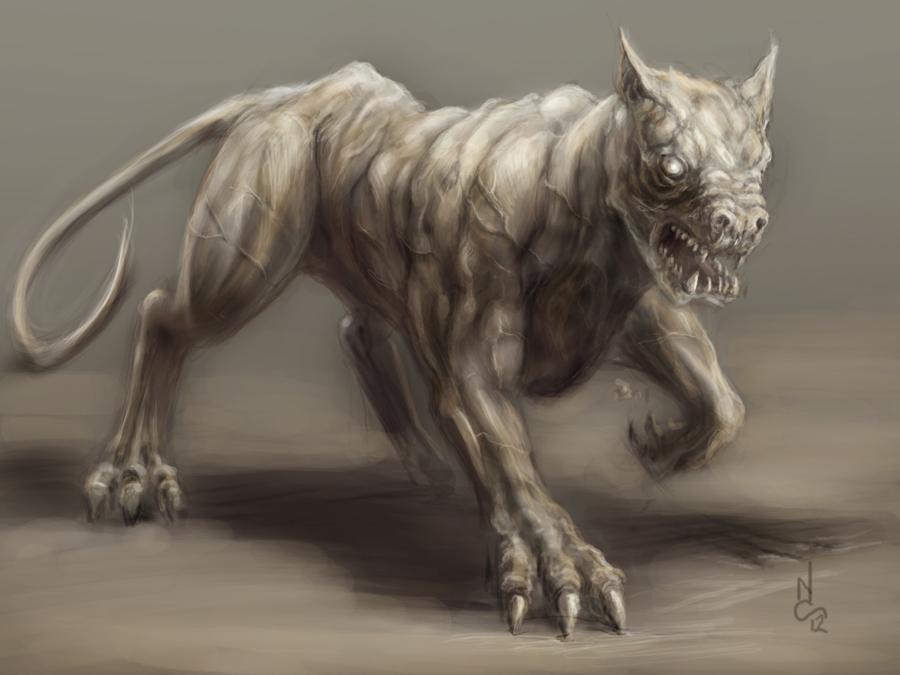I Am Legend Zombie Dog The Sketchbook of Nate...