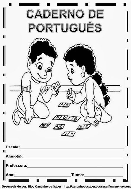 Capas para caderno de português