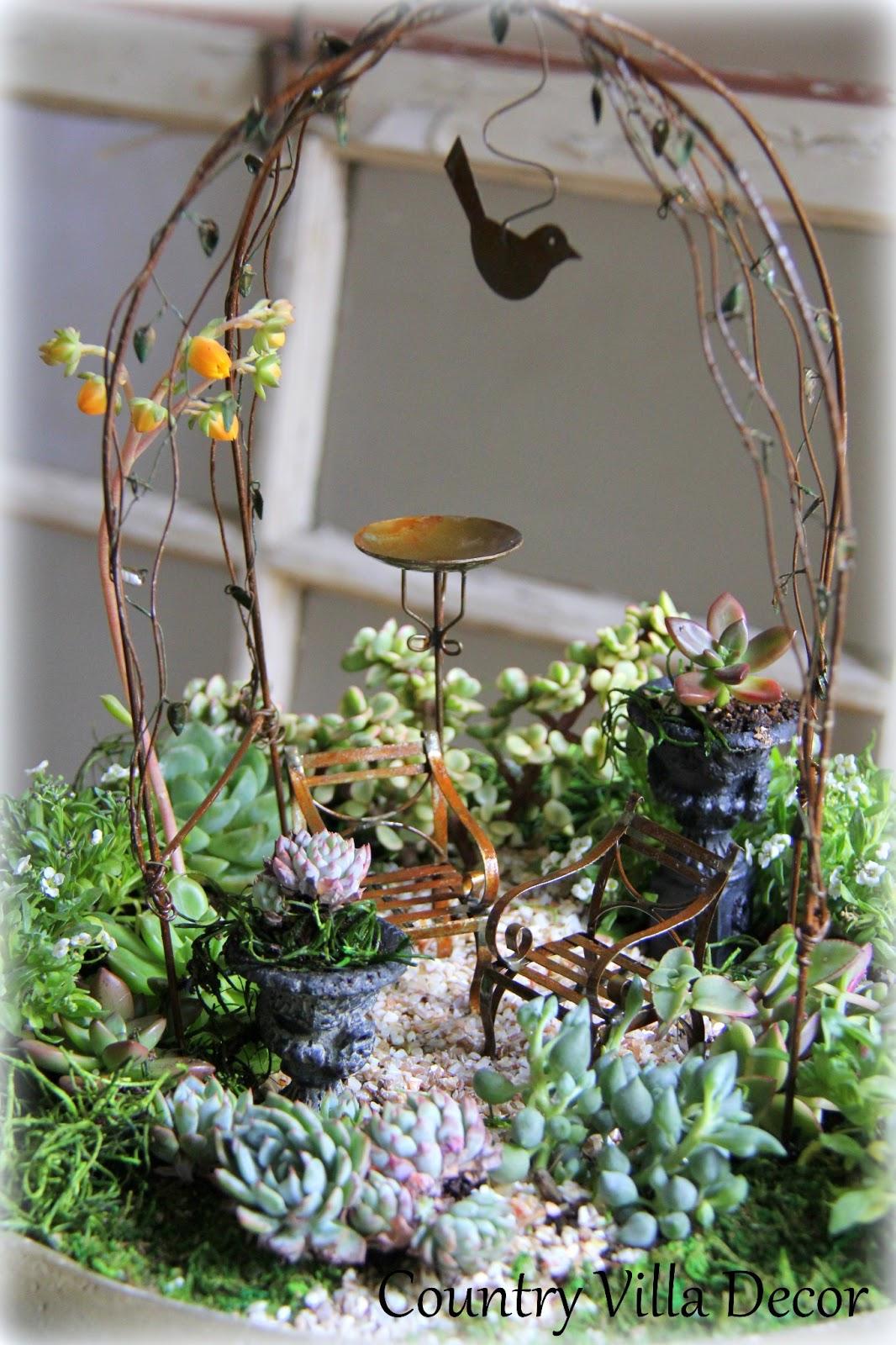 Miniature Succulent Garden Ideas Photograph Country Villa