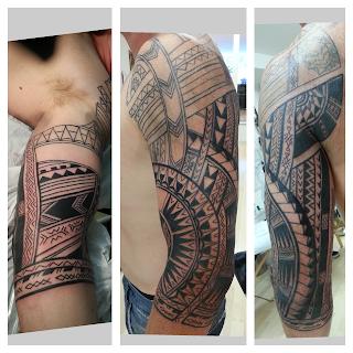 tatouage polynesien polynesian tattoo july 2013. Black Bedroom Furniture Sets. Home Design Ideas