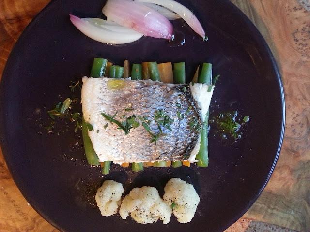 filetti di orata al vapore con verdure