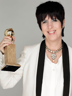 Diane Warren with her 'Best Original Song' Golden Globe Award for 'You Haven't Seen the Last of Me' by Cher from 'Burlesque'