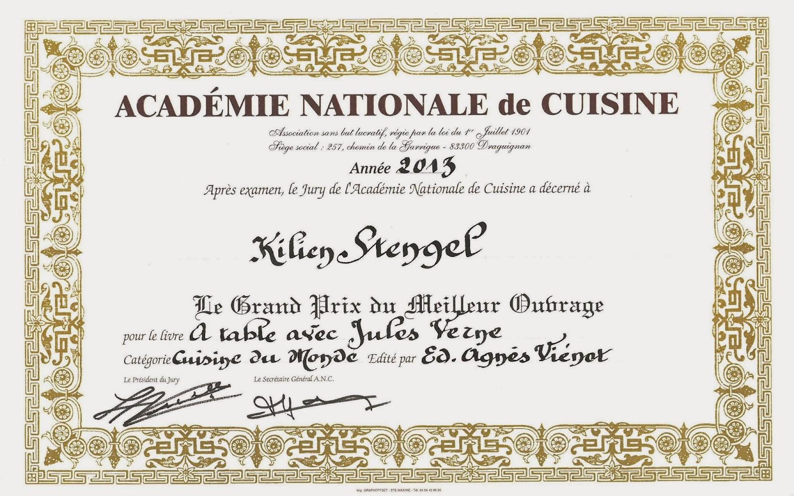 Gastronomie quement votre kilien stengel acad mie for Academie de cuisine