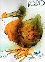 Ralph Steadman: Di Dodo, Extinct Boids, 2011.