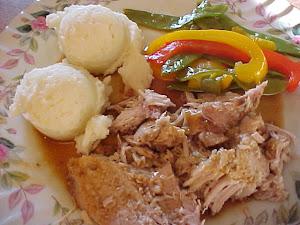 Rôti de porc sauce au vin blanc