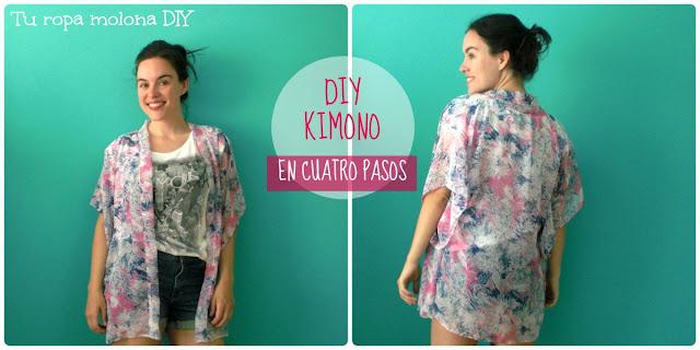 DIY kimono en sólo cuatro pasos