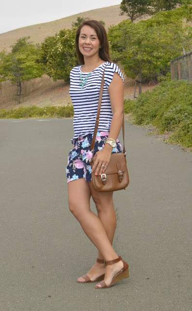 Floral and Patterned Shorts Outfit