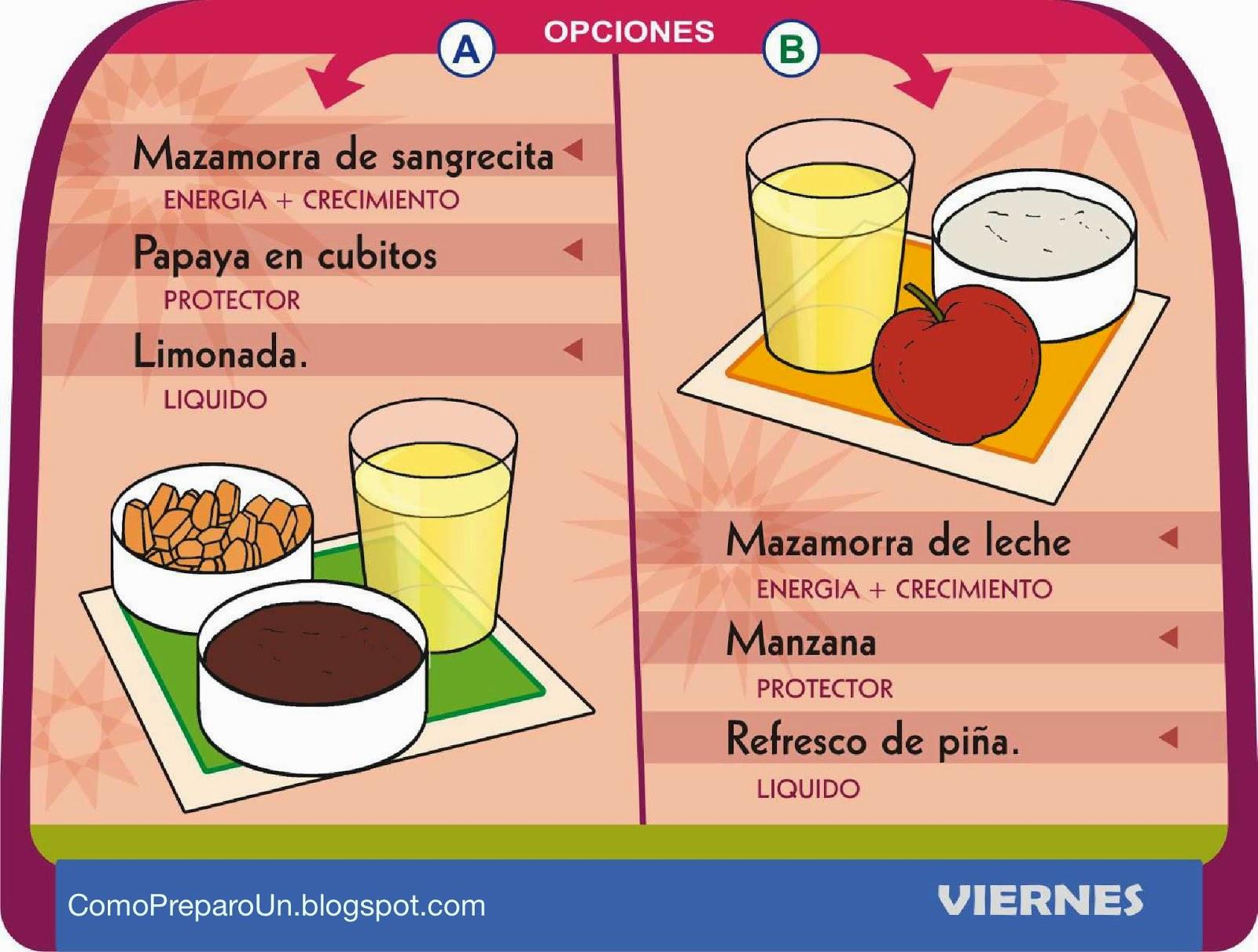 Loncheras nutritivas y saludables para ni os viernes - Como preparar una cena saludable ...