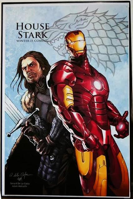 casa Stark ironman - Juego de Tronos en los siete reinos