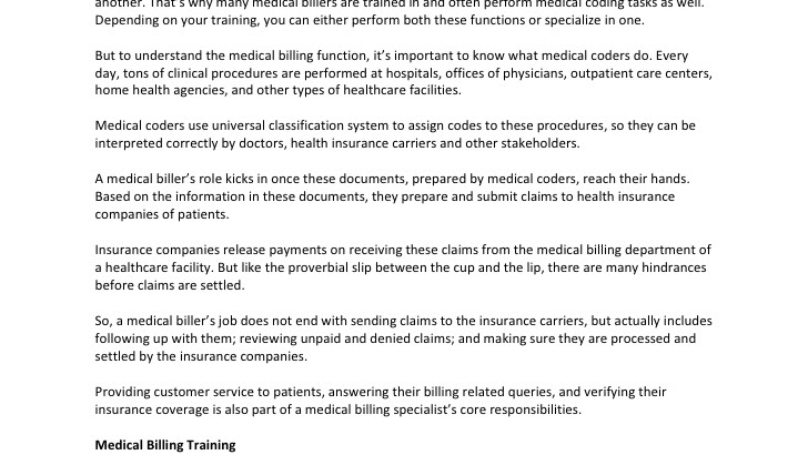 Clinical Coder - Medical Coding And Billing Job Description - Jobs ...