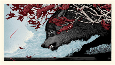 "Mondo: ""Canus Dirus"" Game of Thrones Screen Print by Aaron Horkey"