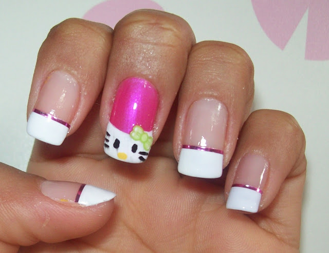 Unha Decorada - Hello Kitty