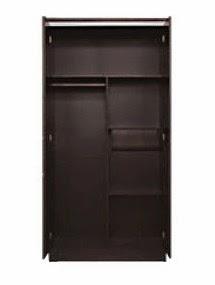Tampak Dalam Lemari Pakaian 2 Pintu Everlasting Series Popular Furniture