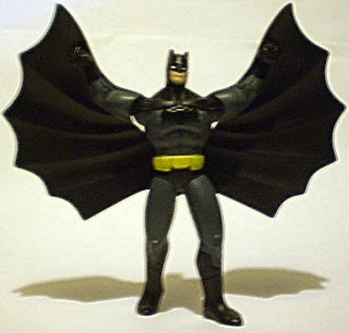 Front of McDonald's Young Justice Batman with cape up