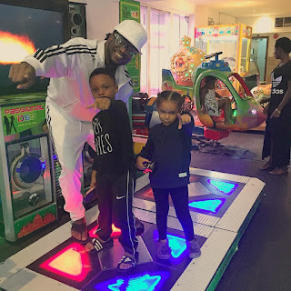 Paul Okoye with his kids