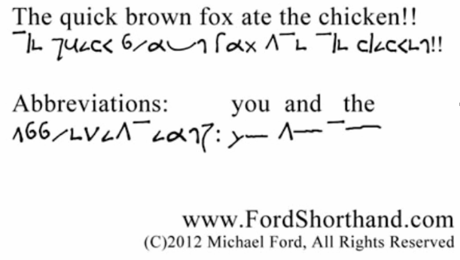 how to read shorthand writing