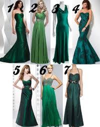 Accesorios para vestidos verdes de noche