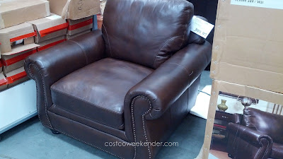 Sit in comfort in the Marks & Cohen Savoy Leather Chair