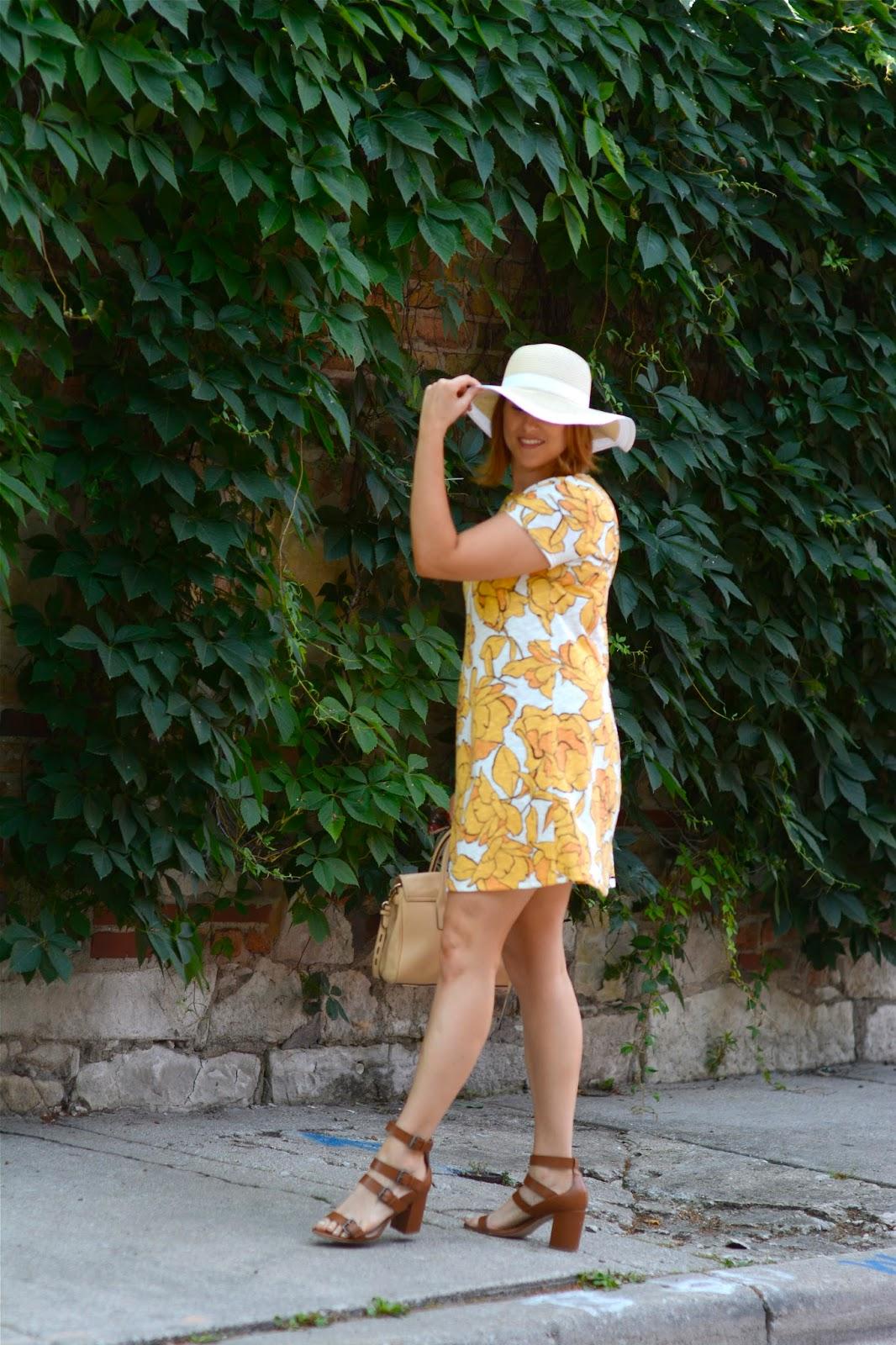 summer, dress, sun, dress, floral