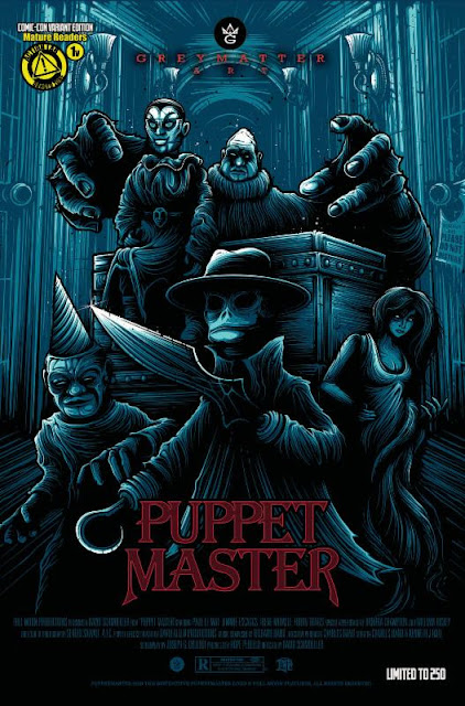 San Diego Comic-Con 2015 Exclusive Puppet Master #1 Variant Cover by Dan Mumford x Grey Matter Art x Action Lab