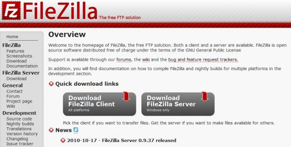 FileZilla  The free FTP solution