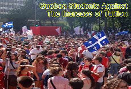 Quebec Students Against The Increase of Tuition