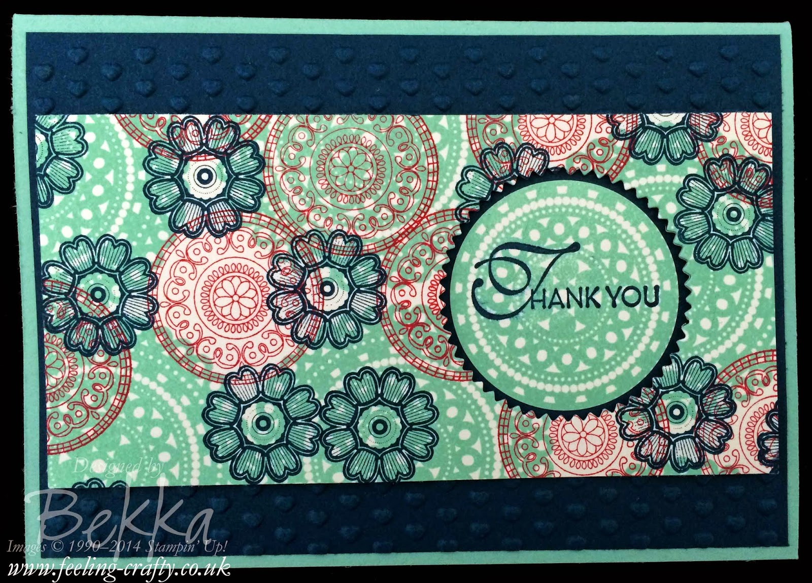 Lacy and Lovely One Sheet Wonder card by Stampin' Up! UK Independent Demonstrator Bekka