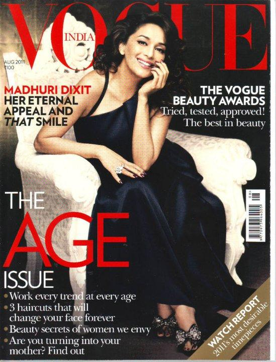 Madhuri Dixit On Vogue Magazine Cover August 2011 Edition