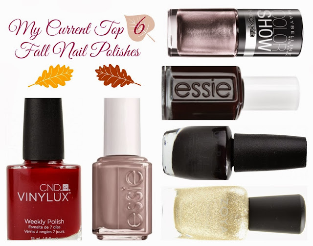 top 6, fall nail polishes, fall polish, fall nails, essie, maybelline, opi, zoya, cnd, vinylux, decadence, alluring rose, wicked, lincoln park after dark, glamour purse, tomoko, beauty blogger, fall faves, taupe, purple, red, metallic, textured matte glitter, glitter, glitter diaries, gold, nail review