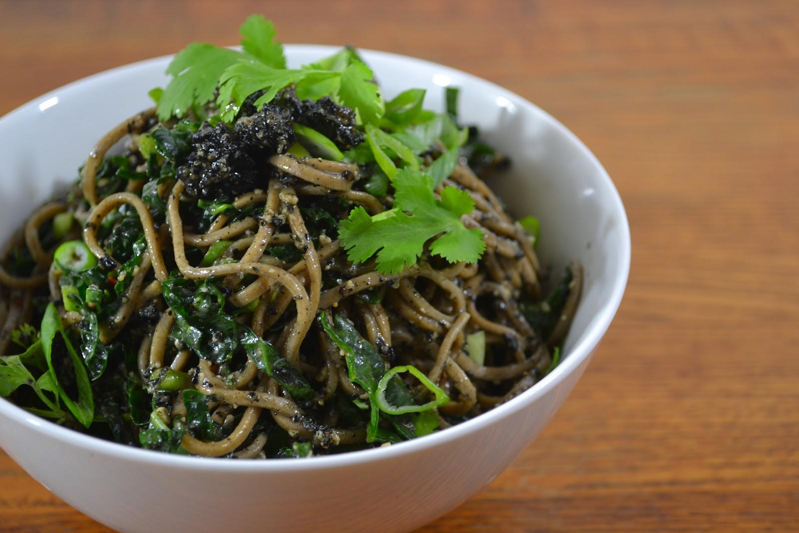 kale and kumquats: Black Sesame Otsu
