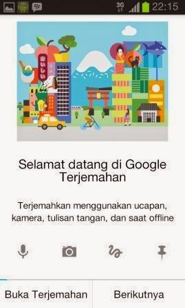 Aplikasi Translate di HP Android