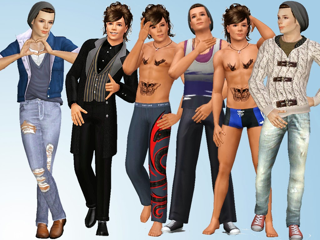 Harry Styles Natural Hair: Sims And Just Stuff: Harry Styles From One Direction By
