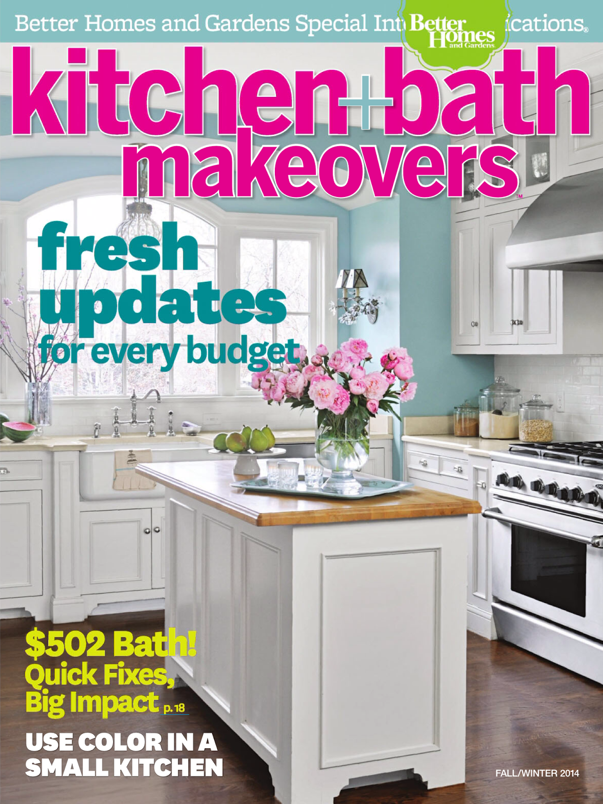 better homes and garden kitchen and bath makeovers fallwinter 2014 - Home And Garden Kitchen Designs