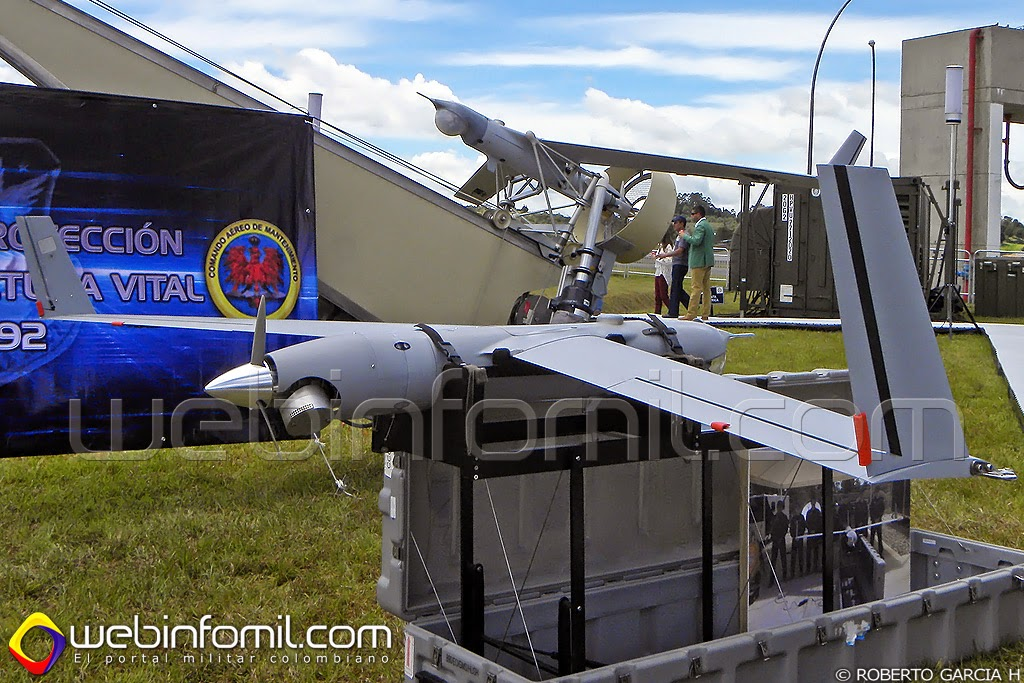 UAV ScanEagle Fuerza Aerea Colombiana Drones