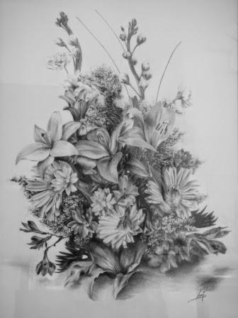 Flores. Grafito  2012. 50X70cm