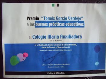 """Premio """"Tomás García Verdejo"""" 2012"""