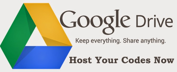 How to host codes in google drive