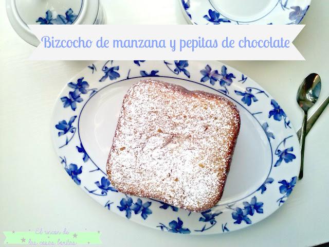bizcocho chocolate manzana