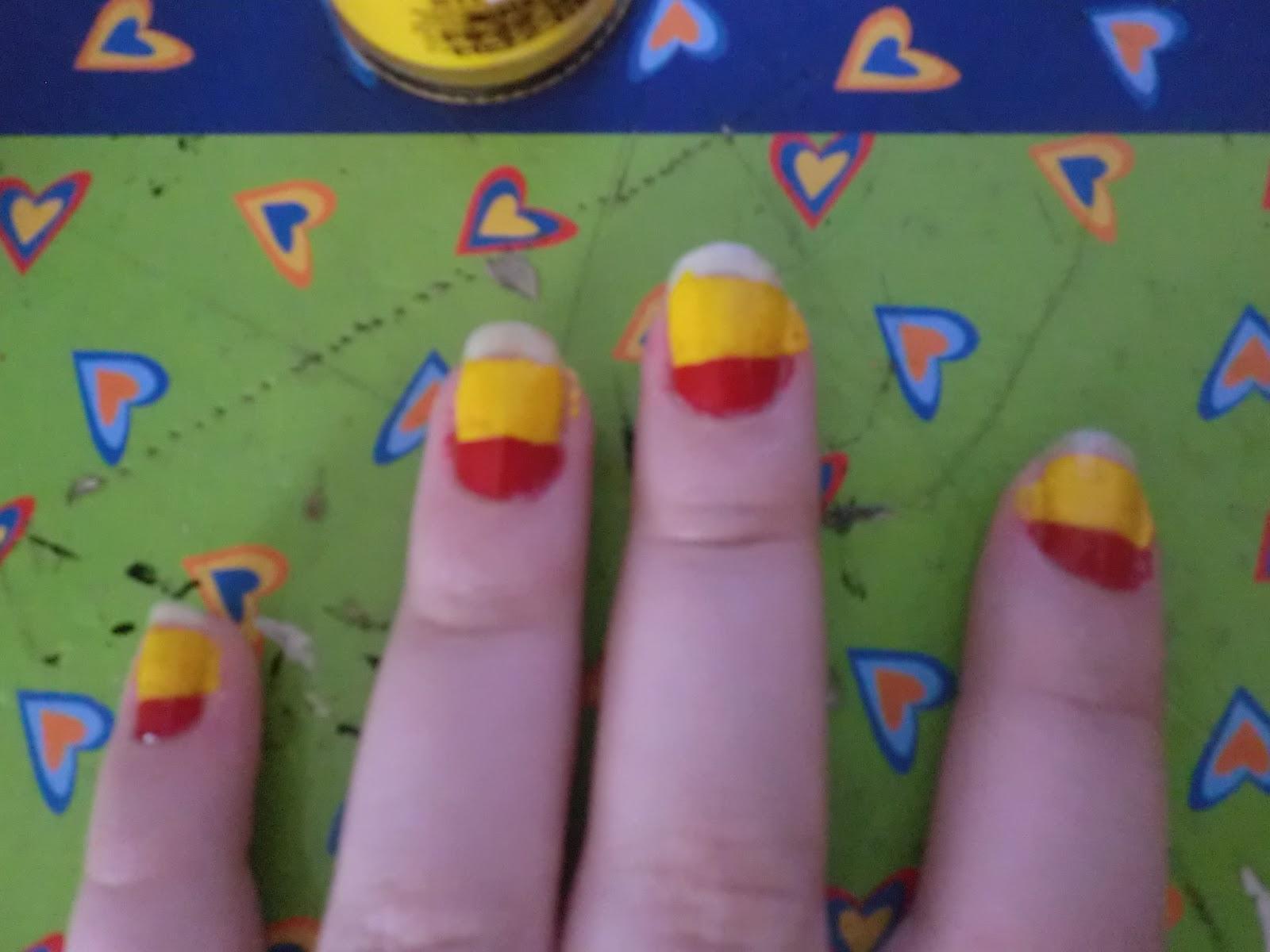 Martta Style: Uñas con la Bandera de España