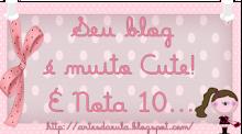 Obrigada, amiga do Blog Gente Arteira !
