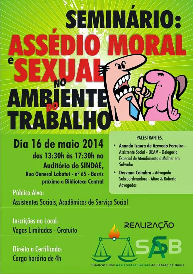 O SASB realiza Seminário: Assédio Moral e Sexual no Ambiente do Trabalho