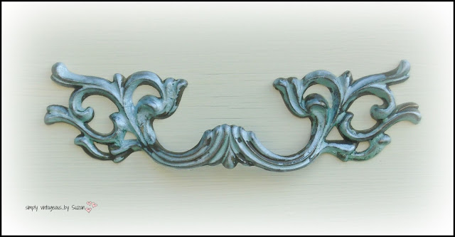 French Provincial dresser knobs - painted