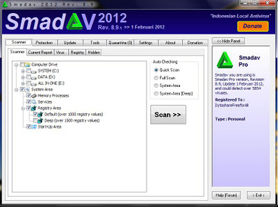 Smadav 2012 Rev. 8.9: Addition of a new virus database 650, Completion