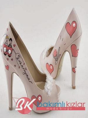 2014 Yeni Moda Gelin Ayakkabı Modelleri