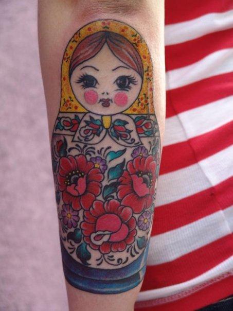 tattoos on nesting doll arrow tattoos