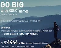 Buy Xolo Era Go Big at Rs.3999 (5″, Quadcore,1 GB RAM)  : Buytoearn