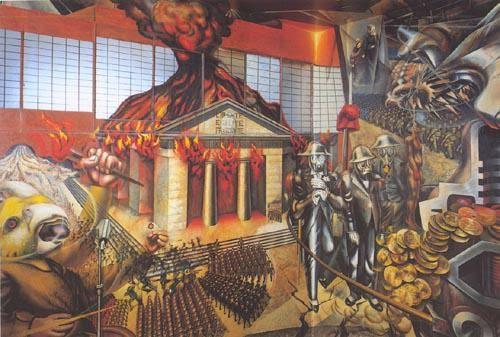 Taller de muralismo el mural de tlaxcala mito hist rico for El mural de siqueiros
