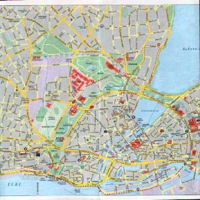 Hamburg Map Germany