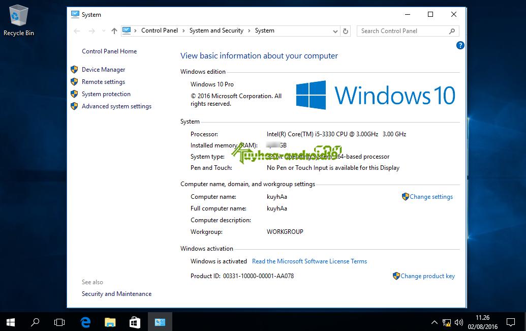 Windows 10 Version 1607